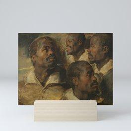 FOUR STUDIES OF A HEAD OF A MOOR PETER PAUL RUBENS Mini Art Print