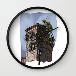 Tower of the palace (color) Wall Clock
