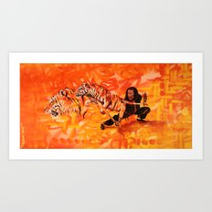 Roaring Tiger Broadsword Art Print