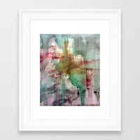 splatter Framed Art Prints featuring Splatter  by Lizzshop
