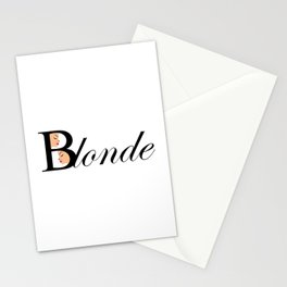 Beautiful blonde women Stationery Cards