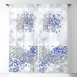 Abstract Art Colliding Worlds | silver Blackout Curtain