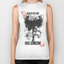 Reach Out and Hug Someone Biker Tank