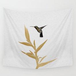 Hummingbird & Flower II Wall Tapestry