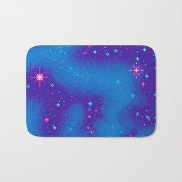 Indigo Nebula (8bit) Bath Mat