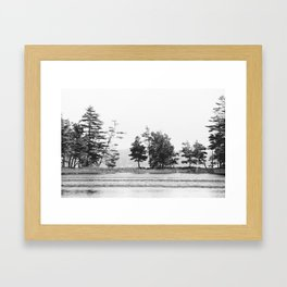 Lake Line Framed Art Print