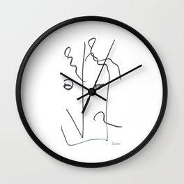 Demeter Moji d24 4-3 w Wall Clock