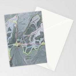 Mt Baker Resort Trail Map Stationery Cards