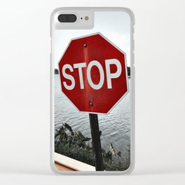 Iterations of a Stop Sign #1 Clear iPhone Case