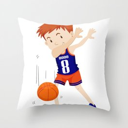 Dab Dabbing Basketbal Funny Throw Pillow