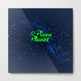 Pizza Planet Space Metal Print