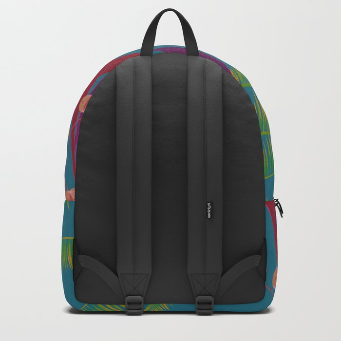 Black Cat In The Outside World Backpack