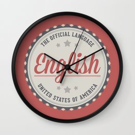 The Official Language Wall Clock