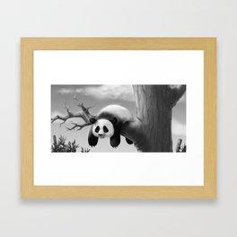 Hang In There, Panda! Framed Art Print