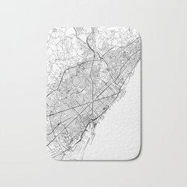 Barcelona White Map Bath Mat