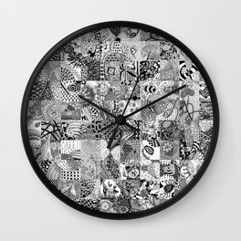 Doodling Together #3 Wall Clock