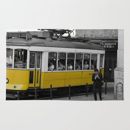 Tram Smoking in Lisbon Rug