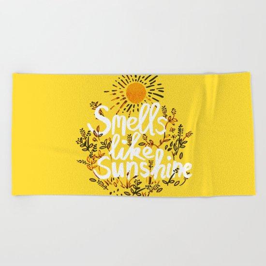 Smells Like Sunshine Beach Towel