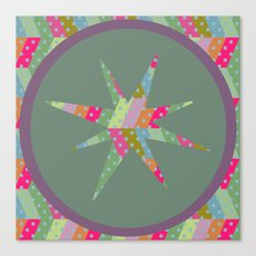 retro pattern and star 2 Canvas Print
