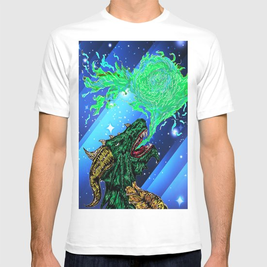 green dragon fire artist T-shirt