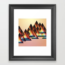 Learning to make fire Framed Art Print