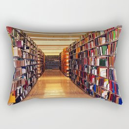 Library Books Rectangular Pillow