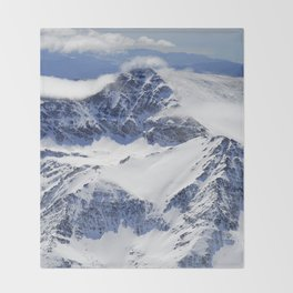 """""""Big mountains"""". Aerial photography Throw Blanket"""