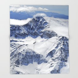 """Big mountains"". Aerial photography Throw Blanket"
