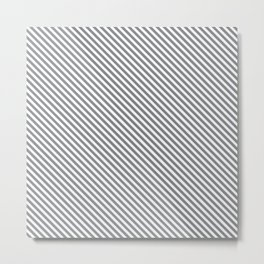 Sharkskin Stripe Metal Print