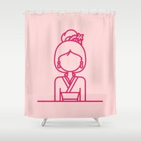 mulan Shower Curtains featuring * D i s n e y * Princesses: Mulan by Sofia Ayuso