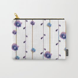 pansies floral minimal pattern Carry-All Pouch