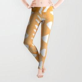 Loose boho chic pattern - orange Leggings