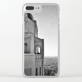 Griffith Park Observatory And Downtown Los Angeles Clear iPhone Case