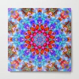 kaleidoscope Diamond Flower G408 Metal Print