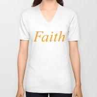 faith V-neck T-shirts featuring Faith by DropBass