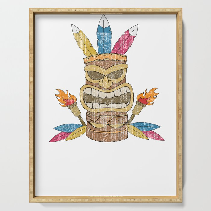 Funny Show Me Your Tikis Tshirt Design Serving Tray