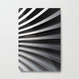 Curved Lines Metal Print