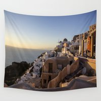 greece Wall Tapestries featuring Greece by Andréa Bottalla
