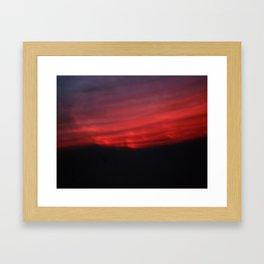 Burn the Sky Framed Art Print