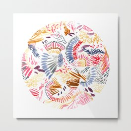 Coral Reef Watercolour Metal Print