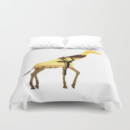 Giraffe Cutout 2 Duvet Cover