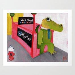 A for Alligator Art Print