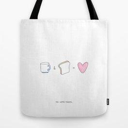 Les cafés-toasts Tote Bag