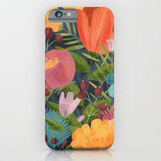 Flowers on Blue Slim Case iPhone 6s