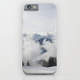 Snowy Mountain Range iPhone Case