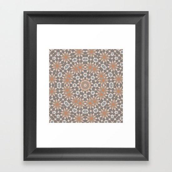 Flower Symmetry  Framed Art Print