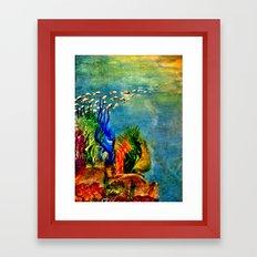 Fish Swarm Framed Art Print