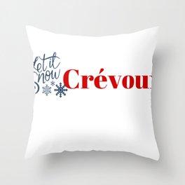 Snow in Crévoux (Crevoux) Throw Pillow