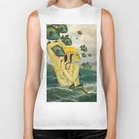 mermaid Biker Tanks featuring MERMAID by Julia Lillard Art