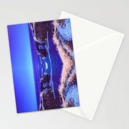 Early Morning Infrared Symmetrical Image of a Rocky Cove in Mendocino, California Stationery Cards